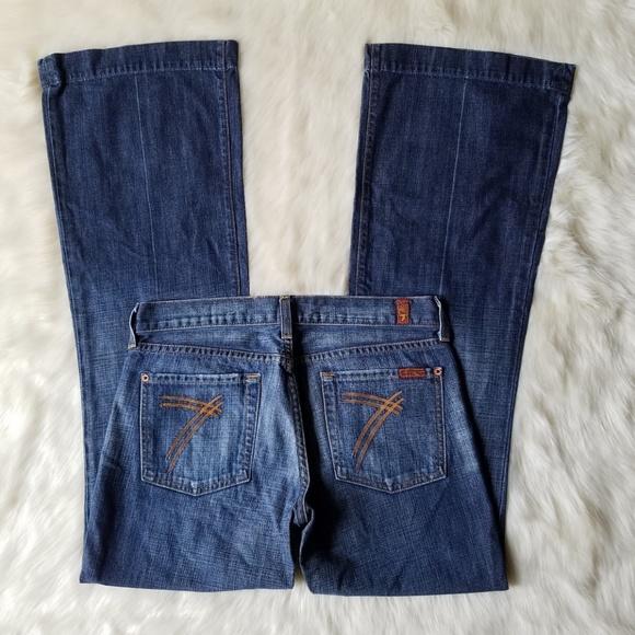 7 For All Mankind Denim - 7 For All Mankind Dojo Flare Medium Wash Jeans 29